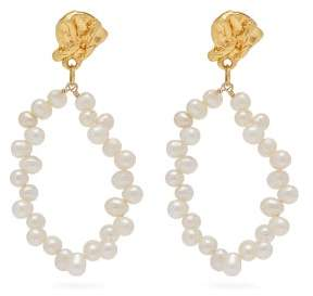 Alighieri Apollos Story 24kt Gold Plated Pearl Earrings - Womens - Gold