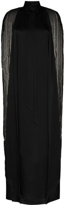 Taller Marmo Dea cape-effect embroidered maxi dress