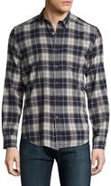 Gilded Age Men's Plaid Spread Collar Sportshirt