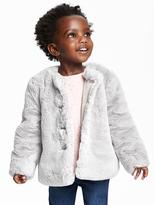 Old Navy Faux-Fur Button-Front Coat for Toddler