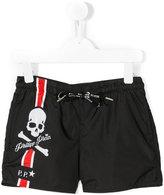 Philipp Plein skull print swim shorts - kids - Polyester - 4 yrs