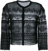 Alberta Ferretti crochet knit cardigan