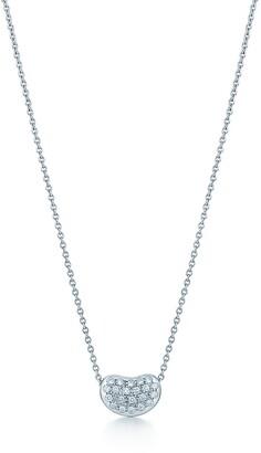 Tiffany & Co. Elsa Peretti Bean Design pendant in platinum with diamonds