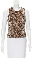 Anna Sui Sleeveless Leopard Print Top