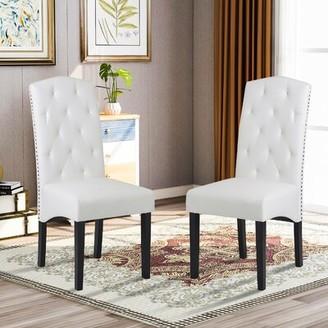 Red Barrel Studioâ® Perdido Linen Upholstered Parsons Chair in White Red Barrel StudioA