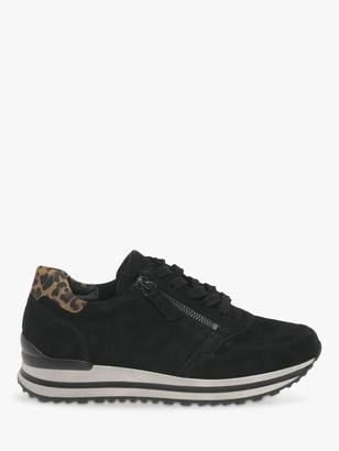 Gabor Nulon Extra Wide Fit Nubuck Lace Up Trainers