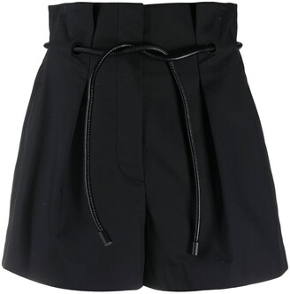 3.1 Phillip Lim Belted High-Waisted Shorts