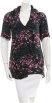 Richard Chai Printed Silk Top