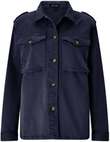 Baukjen Rhian Cargo Jacket In Washed Navy