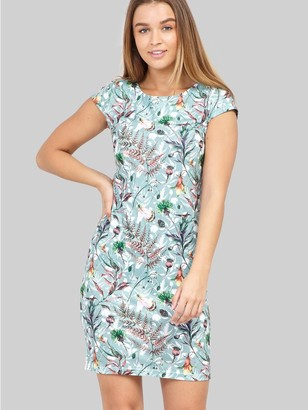 M&Co Izabel botanical print bodycon dress