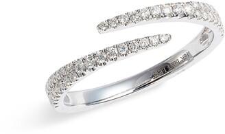 Bony Levy Bardot Pave Diamond Coil Ring