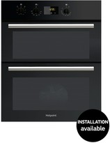 Hotpoint DU2540BL 60cm Electric Built-Under Double Oven With Optional Connection - Black