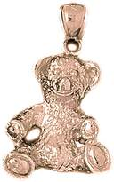 NecklaceObsession 14K Rose Gold Teddy Bear Pendant Necklace - 30 mm