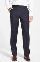 Hickey Freeman Men's 'B Series' Flat Front Wool Trousers