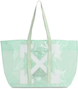 Off-White Commercial Logo Pvc Tote Bag