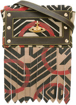 Vivienne Westwood geometric print crossbody bag - women - Cotton/Leather/metal - One Size