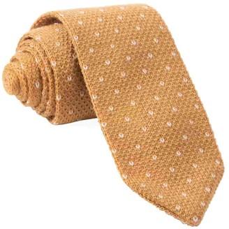 Tie Bar Birdseye Knit Mustard Tie