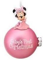 Disney First Christmas Minnie Mouse Ornament Baby