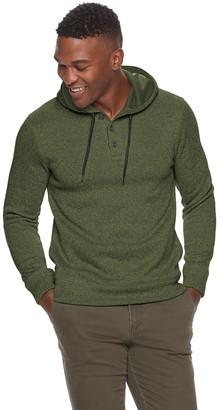Sonoma Goods For Life Men's Sweater Fleece Henley Hoodie