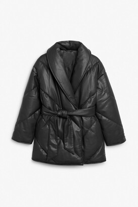 Monki Faux leather coat