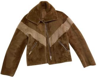 Sandro Beige Fox Coat for Women