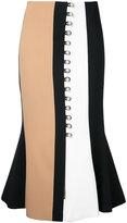 David Koma buttoned midi skirt - women - Spandex/Elastane/Acetate/Viscose - 10