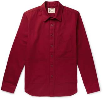 Aspesi Garment-Dyed Cotton-Twill Overshirt