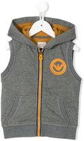 Armani Junior sleeveless hoodie - kids - Cotton/Polyester - 4 yrs