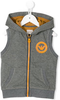 Armani Junior sleeveless hoodie - kids - Cotton/Polyester - 6 yrs