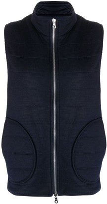 N.Peal Quilted Zip-Through Reversible Gilet
