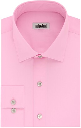 Kenneth Cole Reaction Men's Slim Fit Solid Spread Collar Dress Shirt