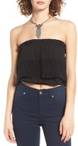 Sun & Shadow Women's Lace Popover Tube Top