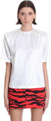 ATTICO Bella T-shirt In White Viscose