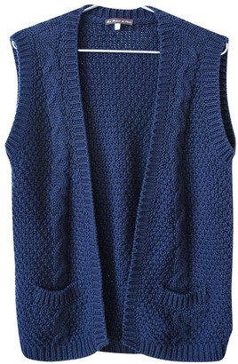 Les Prairies de Paris Navy Cotton Knitwear for Women