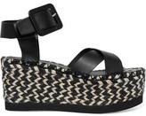 Paloma Barceló Soledad Woven Leather Platform Sandals