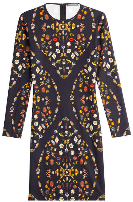 Alexander McQueen Printed Jersey Dress