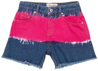 Alberta Ferretti Tie & Dye Denim Shorts