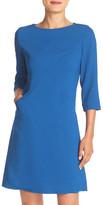 Eliza J Crisscross Seam Stretch Crepe A-Line Dress