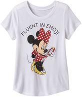 """Disney Disney's Minnie Mouse Girls 7-16 """"Fluent in Emoji"""" Graphic Tee"""