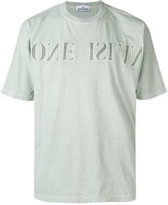 Stone Island upside down logo T-shirt