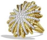 David Yurman Starburst Ring With Diamonds In 18K Gold