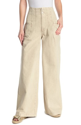 Free People Midnight City High Waisted Wide Leg Jeans