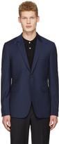 Paul Smith Navy Wool Check Blazer