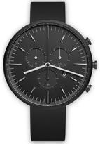 Uniform Wares M42 Pvd Italian Nitrile Rubber Wristwatch Black