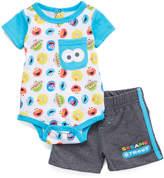 Children's Apparel Network Sesame Street White Bodysuit & Shorts Set - Infant