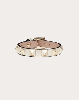 Valentino Rockstud Leather Bracelet Women Sahara Calfskin 100% OneSize