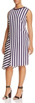 Marina Rinaldi Dispari Asymmetric Stripe Dress