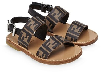 Fendi Kids FF embossed-logo sandals