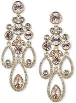Givenchy Gold-Tone Crystal and Pave Chandelier Earrings