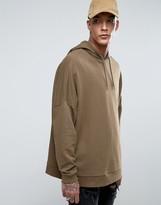Asos Extreme Oversized Hoodie In Khaki
